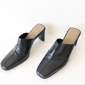 Nicole Women's Brakes Black Slip On Heels Size 7 M